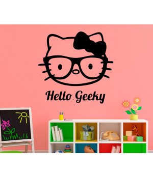 Хэллоу Гикки. Hello Geeky sticker