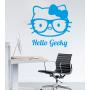 Виниловая наклейка на стену Хэллоу Гикки. Hello Geeky sticker