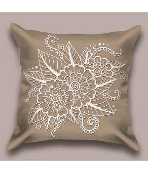 Декоративная подушка Песочный ажур