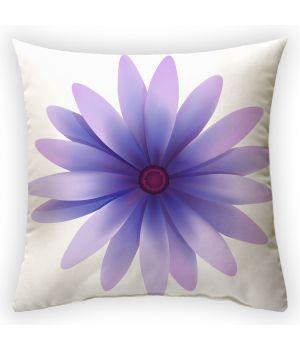 Декоративная подушка Фиолетовые волшебные лепестики