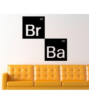 У Всі Тяжкі Лого. Breaking Bad logo sticker