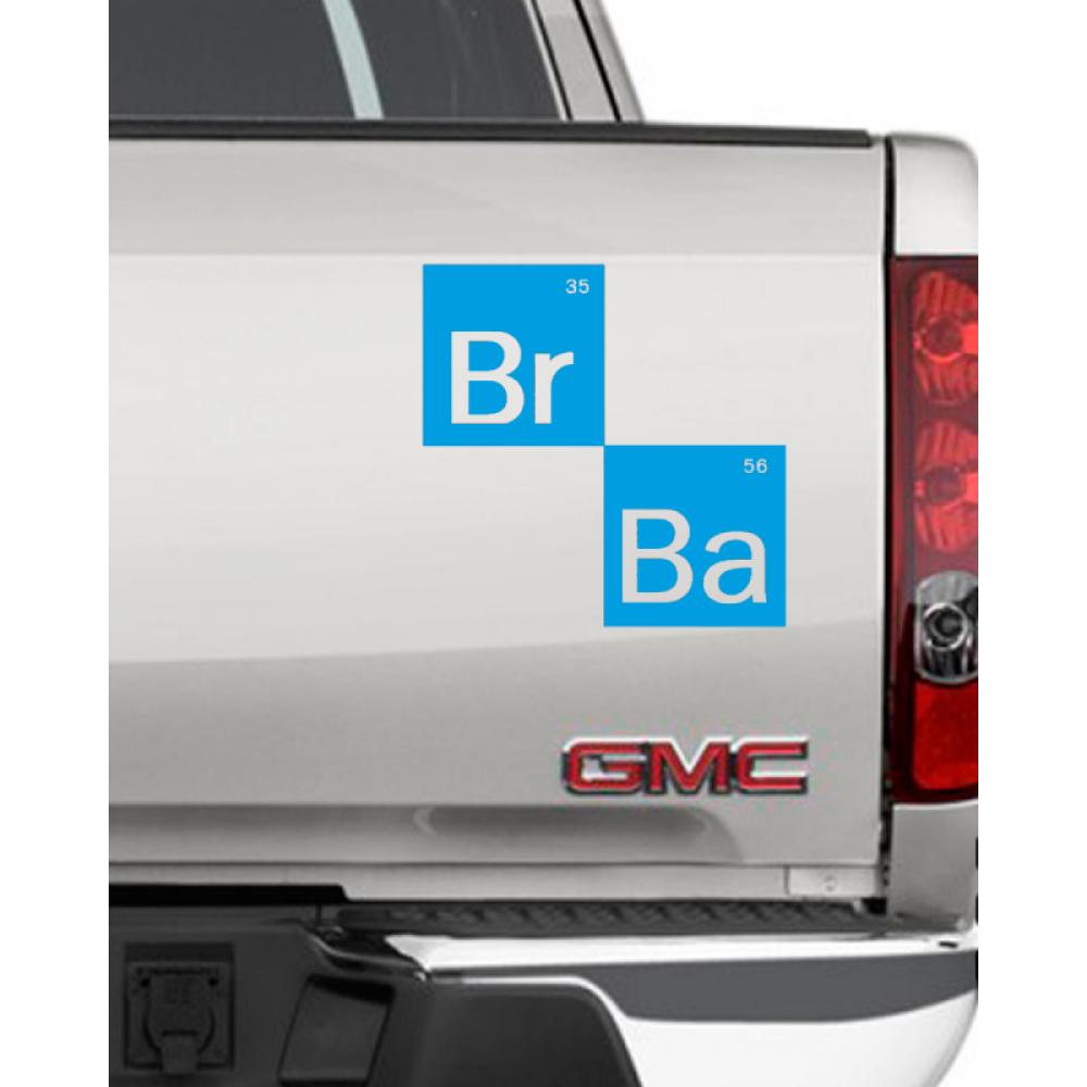 виниловая наклейка на стену во ввсе тяжкие лого Breaking Bad Logo