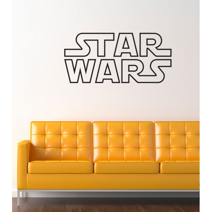 Виниловая наклейка на стену Star Wars Logo.Лого Звездные Войны