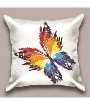 Декоративная подушка Радужная бабочка