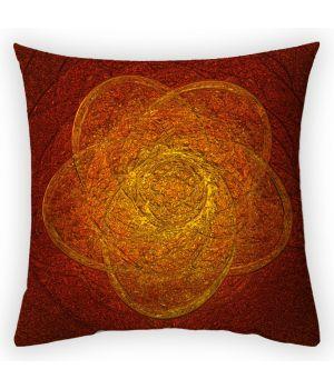 Декоративная подушка Янтарное сияние