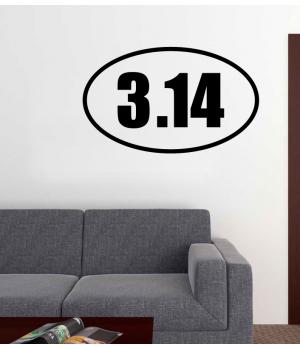 Число Пи. The number π sticker