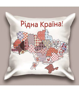 Декоративная подушка Рідна Країна