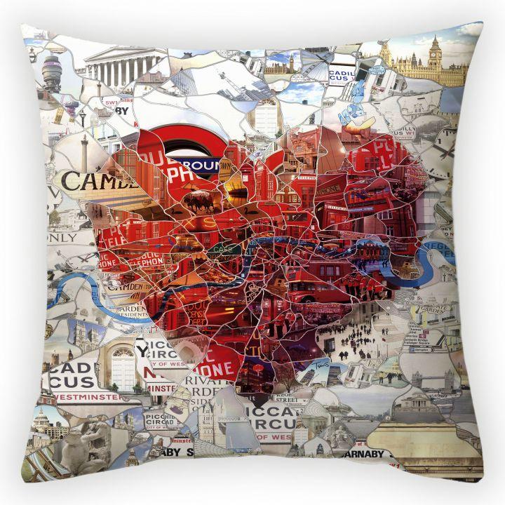 Декоративная подушка Сердце путешественника