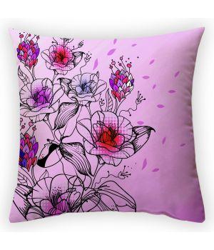 Декоративная подушка Цветочные мотивы-2