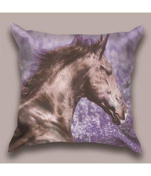 Декоративная подушка Пурпурная лошадь