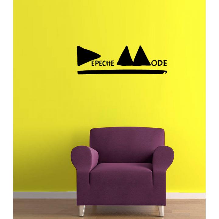 Виниловая наклейка на стену Depeche Mode.