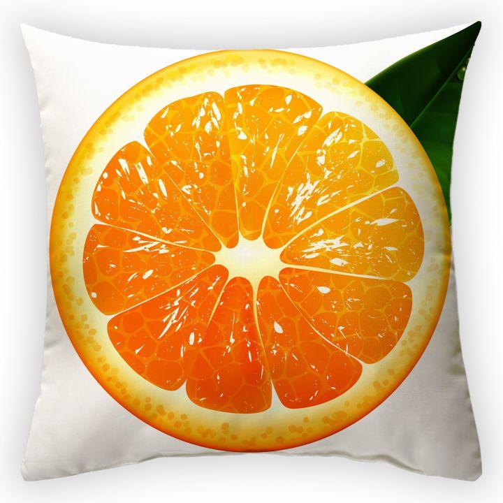 Декоративная подушка Сочный апельсин