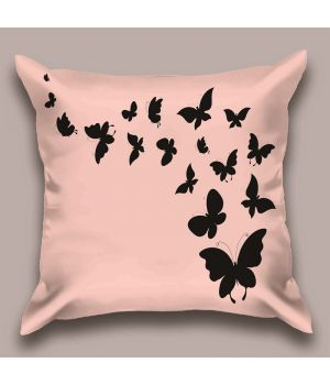 Декоративная подушка Пурпурный полет бабочек
