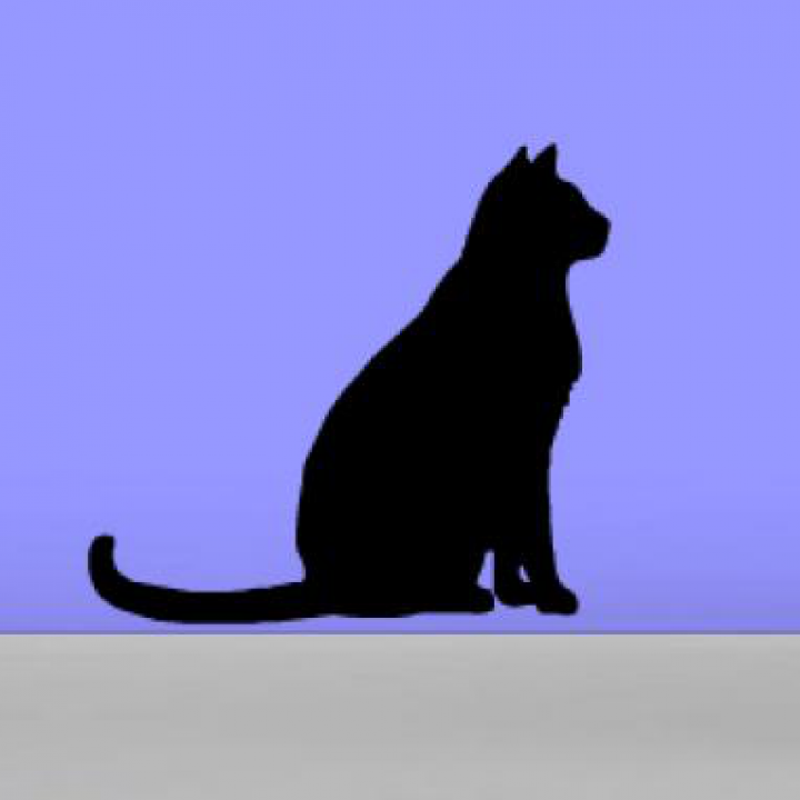 Виниловая наклейка на стену Стикер Кошка