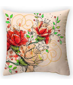 Декоративная подушка Цветочная фантазия-2