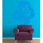 Виниловая наклейка на стену Шлем Вейдера. Vader's helmet sticker