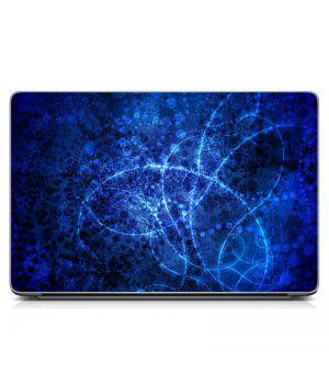 Виниловый стикер для ноутбука Синяя абстракция Матовый