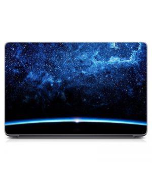 Виниловый стикер для ноутбука Космос, синий Матовый