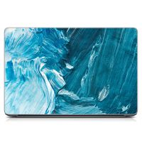 """Универсальная наклейка для ноутбука, 13.3""""-17.3"""" 400x260 мм Голубые мазки краски Матовый"""