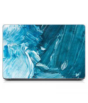 """Універсальна наклейка для ноутбука, 13.3""""-17.3"""" 400x260 мм Блакитні мазки фарби Матовий"""