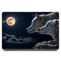 Стикер на ноутбук Пара волков Матовый