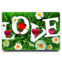 Виниловый стикер на ноутбук Любовь, надпись Матовый