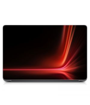 """Универсальная наклейка на ноутбук 15.6""""-13.3"""" Red abstraction Матовая 380х250 мм"""