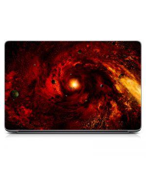 "Универсальная наклейка для ноутбука, 13.3""-17.3"" 400x260 мм Space red Матовая"