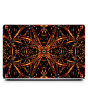 "Универсальная наклейка на ноутбук 15.6""-13.3"" Железные узоры Матовая 380х250 мм"
