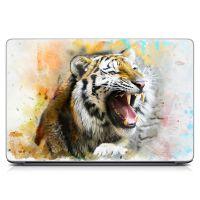 """Универсальная наклейка на ноутбук 15.6""""-13.3"""" Рев тигра Матовая 380х250 мм"""