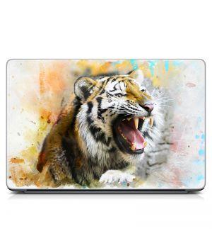 """Універсальна наклейка для ноутбука 15.6""""-13.3"""" Ревіння тигра Матова 380х250 мм"""