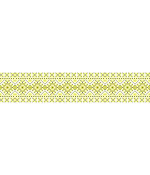100х20 см, Вышиванка на авто желто черная 35