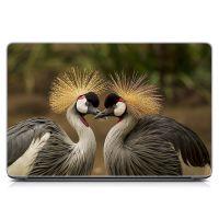 Стикер на ноутбук Влюбленная пара птичек Матовый
