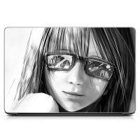 Виниловый стикер на ноутбук Girl Матовый