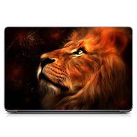 """Универсальная наклейка на ноутбук 15.6""""-13.3"""" Царственный лев Матовая 380х250 мм"""