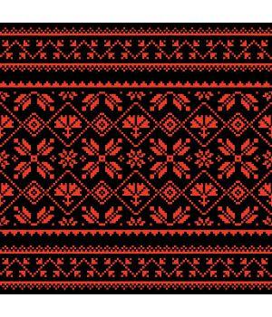 100х20 см, Вишиванка на авто 36 червоно чорна