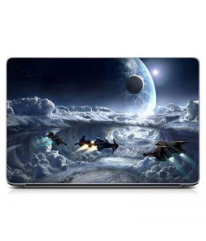 "Универсальная наклейка на ноутбук 15.6""-13.3"" Future, space Матовый 380х250 мм"