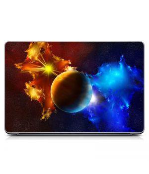 """Универсальная наклейка на ноутбук 15.6""""-13.3"""" Космо стиль Матовый 380х250 мм"""