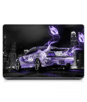 Виниловая наклейка для ноута Auto violet Матовая