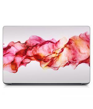 """Универсальная наклейка на ноутбук 15.6""""-13.3"""" Розовая дымка Матовая 380х250 мм"""