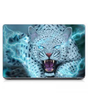 """Універсальна наклейка для ноутбука 15.6""""-13.3"""" Сніжний барс Матова 380х250 мм"""