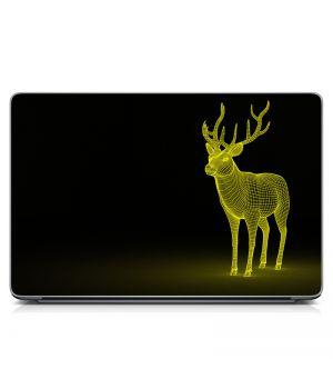 Виниловая наклейка для ноута Deer 3D Матовая