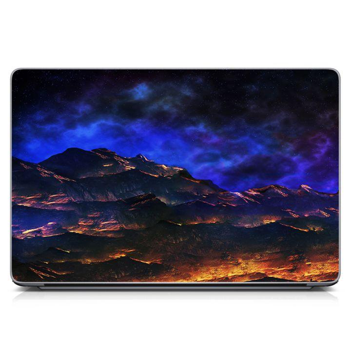"""Универсальная наклейка на ноутбук 15.6""""-13.3"""" Горный пейзаж Матовая 380х250 мм"""