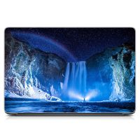 """Универсальная наклейка на ноутбук 15.6""""-13.3"""" Зимний пейзаж Матовый 380х250 мм"""