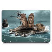 Виниловый стикер на ноутбук Хомячки в плавании Матовый