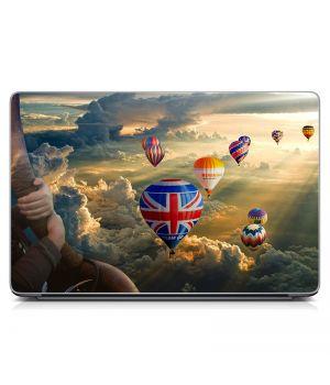 """Универсальная наклейка для ноутбука, 13.3""""-17.3"""" 400x260 мм Воздушные шары Матовая"""