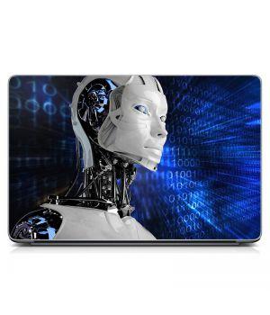 Виниловый стикер для ноутбука Робот, будущее Матовый