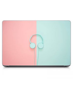 Наклейка на ноутбук Навушники Матовий