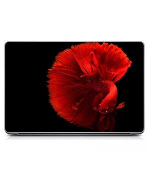 """Універсальна наклейка для ноутбука 15.6""""-13.3"""" Червона рибка Матова 380х250 мм"""