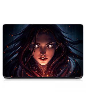 """Універсальна наклейка для ноутбука 15.6""""-13.3"""" Girl Матова 380х250 мм"""